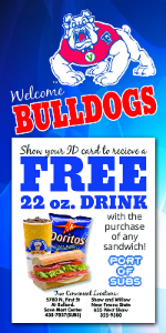 Port of Subs Discount with Bulldog Card