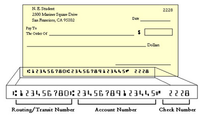 Getting AccountNumber and Routing number from a bank check