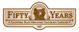 California State Employees Charitable Campaign Fifty Years Logo