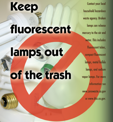 Keep lamps out of the trash