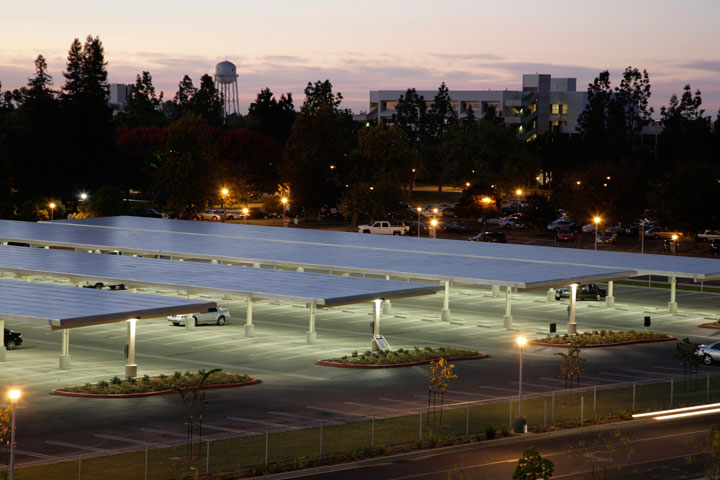 A Photovoltaic Pv Solar Parking Structure