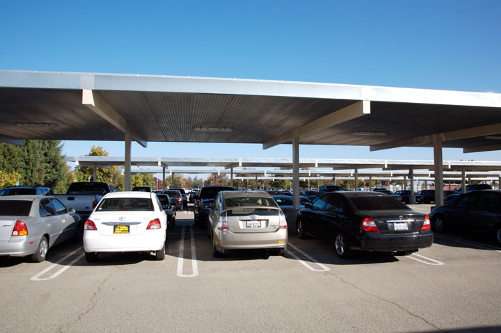 A photovoltaic pv solar parking structure for Rv covered parking structures