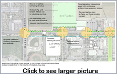 Thumbnail for existing Barstow Avenune Parking layout. Click to view full-size graphic.