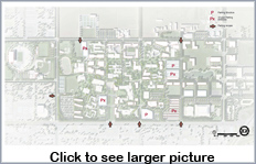 Thumbnail for Access to Campus Parking layout. Click to view full-size graphic.