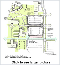 existing parking Lot J Structure Study. Click to view full-size graphic.