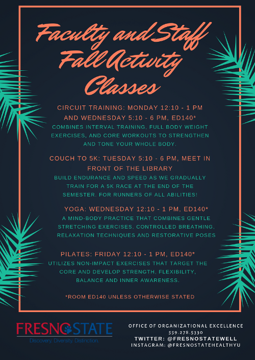 Fall Activity Classes 2019